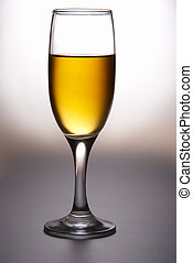 Wine glass with wine - Wine glass with white wine