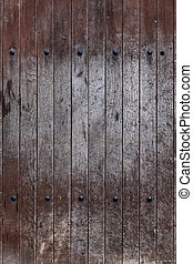 Old Door With Rusty Iron - Old door detail with rusty iron,...