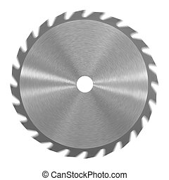 Saw Blade - A saw blade isolated against a white background