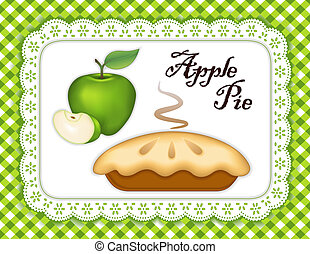 Apple Pie, Lace Doily Place Mat - Traditional fresh baked...