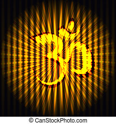 Hindu God Om background - Vector illustration of Hindu God...