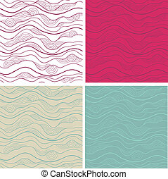 Abstract background - Abstract vector seamless patterns set...