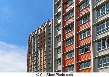 Colorful Apartment - A close up shot of a new colorful high...