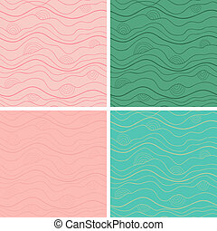 Abstract vector seamless patterns set Fancy doodle