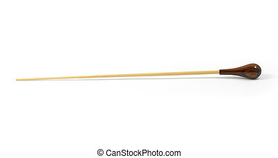 conductor's baton isolated on a white background
