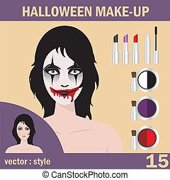 Halloween mask skull face art
