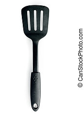 top view spatula isolated on a white background