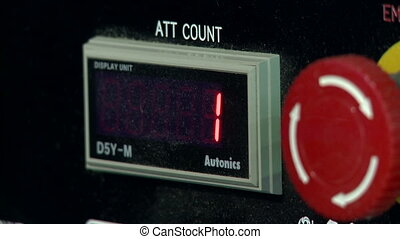 Number 2 shown on control panel display - View of number 2...