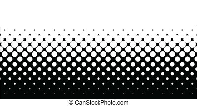 Half Tone - A half tone image with white dots set against a...