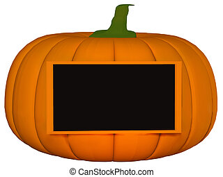 Pumpkin with frame 3d