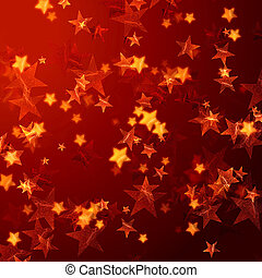 golden red stars background - golden red stars over red...