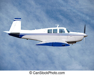 Private Aircraft in Flight - 1980s private aircraft in...