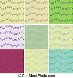 Wavy seamless - Abstract vector wavy seamless patterns set...