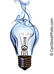 blue smoke lamp bulb