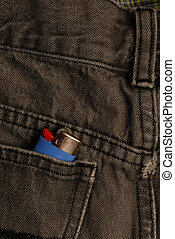 lighter in back pocket