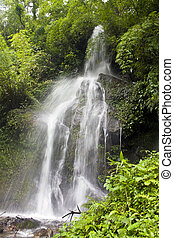 Watefall in Sikkim jungle, India