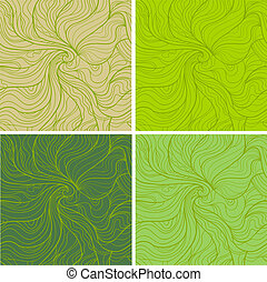 Abstract vector seamless pattern Fancy wavy doodle from...