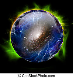 Crystal Ball Shows Galaxy