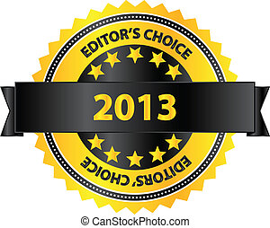 Editors Choice Product Of Year 2013 Vector Illustration