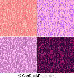 Fancy seamless set - Abstract vector seamless patterns set...