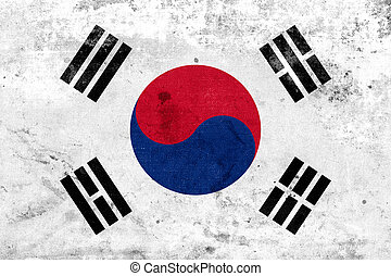 South Korea Flag - Grunge South Korea Flag