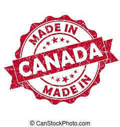 made in canada grunge seal