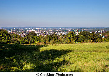 View on a city of Bonn from Kreuzberg hill, Germany