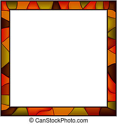 Stained-glass window frame - Vector stained-glass window...