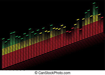 Colorful music equalizer - vector image - music equalizer in...