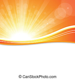 Sun Sky - Bright sunny days sunset sky orange background for...