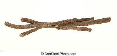 Liquorice sticks isolated on a white background