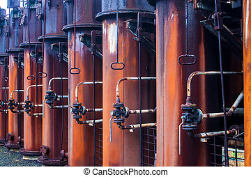 Detail of Coking plant at Zeche Zollverein Coal Mine...