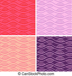 Seamless patterns set - Abstract vector seamless patterns...