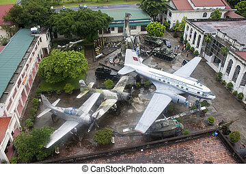 HANOI, VIETNAM - AUG 8: The famous Military History museum...