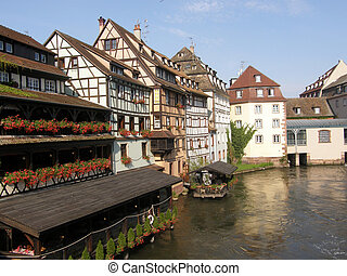 """The river Ill in the """"Petite France"""", Strasbourg, France"""