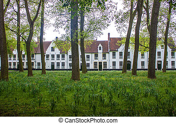Beguinage monastery in Bruges, Belgium