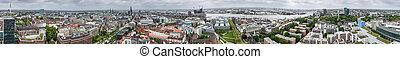 Panorama of Hamburg, Germany