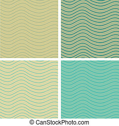 Wavy stripes seamless set - Eps 10 vector stripy seamless...