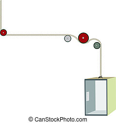 Elevator - isolated vector