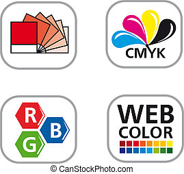 Color CMYK Icon Set