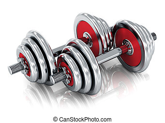 Dumbbells - Creative sport, fitness and healthy lifestyle...