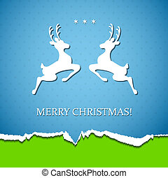 Holiday background with deer