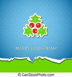 Holiday background with mistletoe