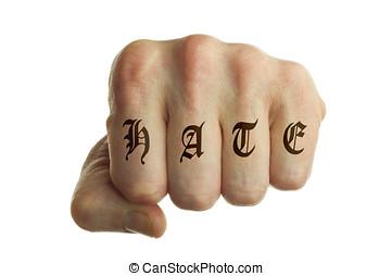 ódio, punho
