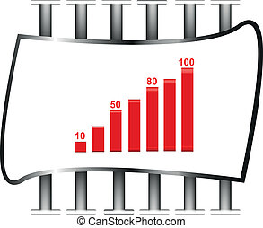 3D vector illustration of business chart.