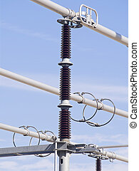 high voltage insulators of a power plant