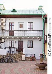 Old yard in Minsk, Belarus - Old yard Troetskae pradmestse -...