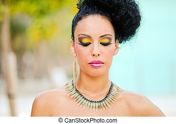Black woman with fantasy make up