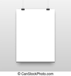 Vector poster template of a paper sheet vector illustration