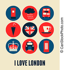 London Greeting Card - London greeting card design.